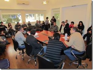 El intendente Juan Pablo de Jesús se reunió con referentes del Consejo Pastoral de La Costa