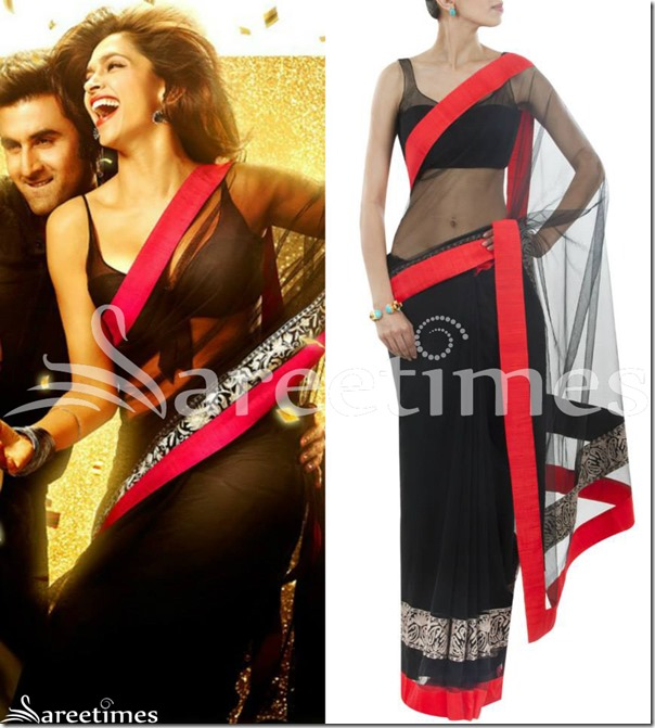 Deepika_Manish_Malhotra_Black_Saree
