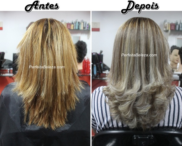 ombre hair loiro platinado