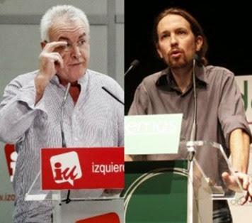Cayo Lara y Pablo Iglesias