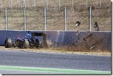 L'incidente di Fernando Alonso nei test di Barcellona 2015