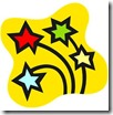 Four Shooting Stars from Microsoft Office Images