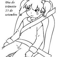 dia do transito atividades desenhos colorir302.jpg