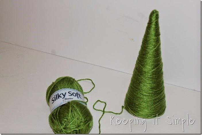 Glitter styrofoam cone Christmas Trees (9)