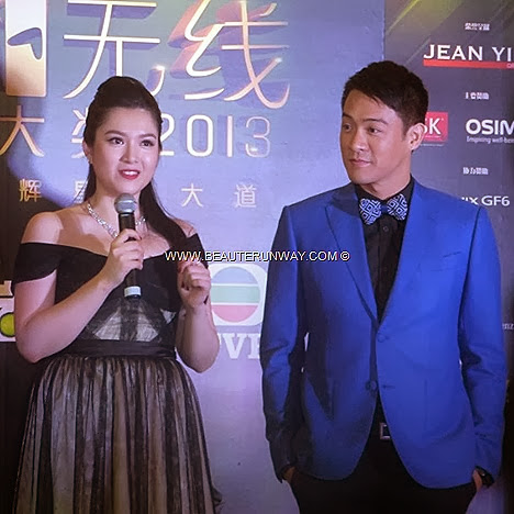 Starhub TVB Awards 2013 Christine Kuo Jason Chan Best TVB Female Male Newcomer  Hong Kong Celebrities in Singapore Marina Bay Sands Red carpet ceremony