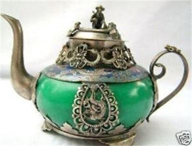 tibet green jade teapot