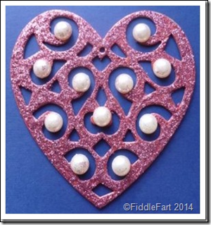 glittered heart valentines Christmas decoration 1