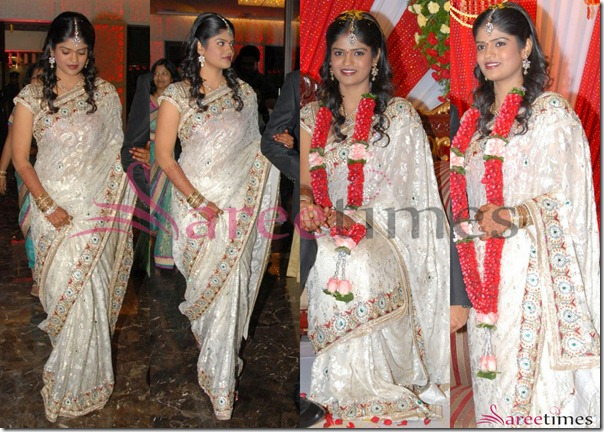 Uday_Kiran_Visheeta_Reception_Saree