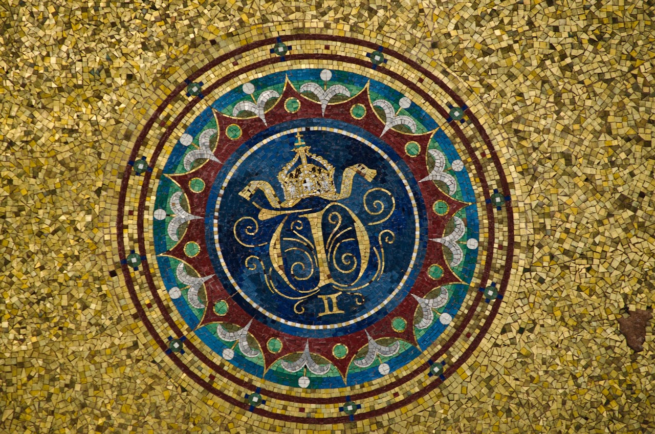 Mosaic at German fountain in Hippodrome Istanbul