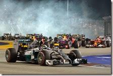 Hamilton vince il gran premio di Singapore 2014