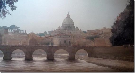 27 Roma Ponte San Angelo 64 x 110 cm