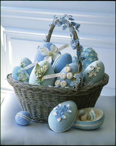 Cute treasures hide inside these glittered egg boxes.
