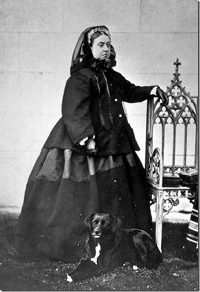Queen Victoria in Mourning Dress 02
