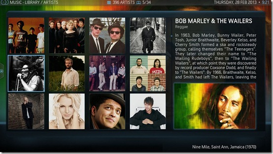 09-XBMC-V12-AeonNox-Music-Artists-InfoWall-View