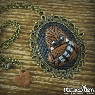 CHewbacca Inspired Cameo Necklace from Rapscallion Design