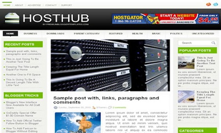 HostHub Blogger Template