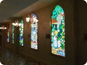 Just a sample of the many stained glass windows