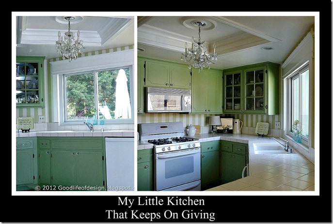 Ribbet little kitchen collage