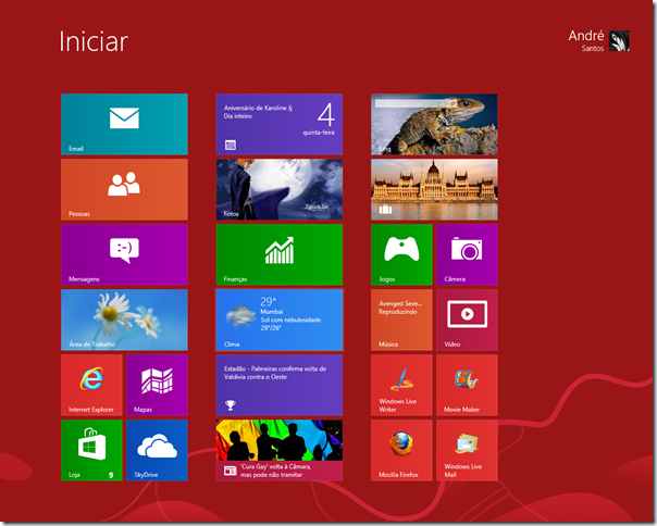 Windows 8 - tela inicial