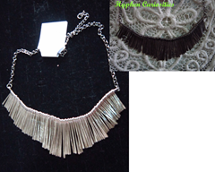 silver bib necklace, hyphen