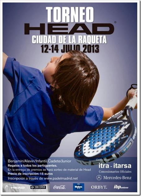 Torneo Pádel HEAD para menores en la Ciudad de la Raqueta Madrid 12-14 julio 2013.