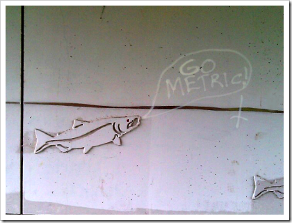 Geek graffiti -- go metric!