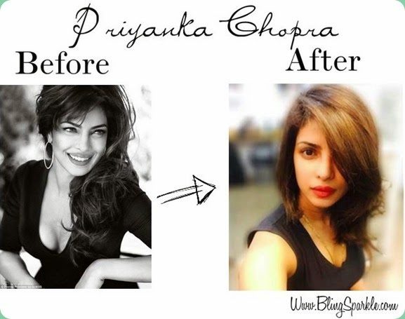 Priyanka chopra new haircut