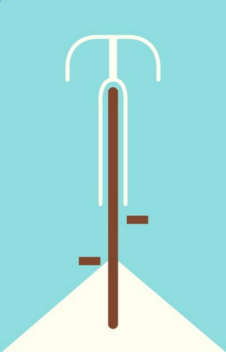 This print is so minimal yet impactful. (Bicycle, postercabaret.com)