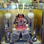 a samurai costume miniature in Kyoto, Kyoto, Japan