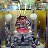 a samurai costume miniature in Kyoto, Kyoto, Japan