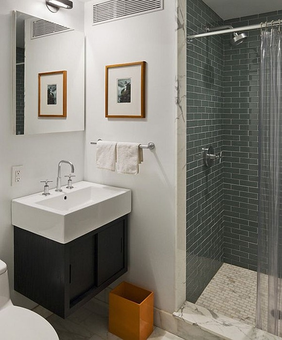 Diseno De Baños Color Beige:Bonitos diseños de baños en tonos color naranja – iDecorar