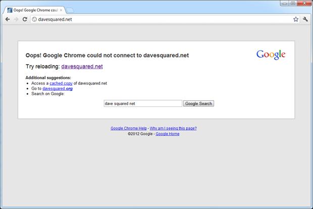 davesquared.net not loading