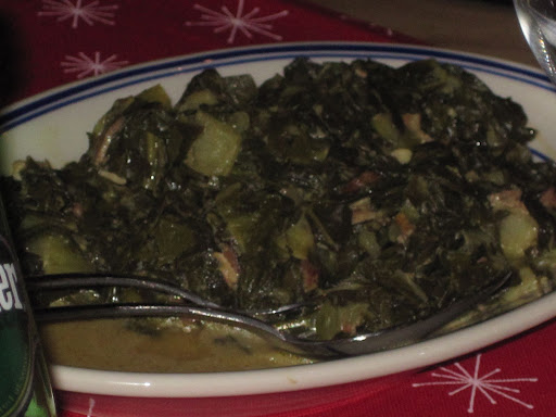 Marcus' out-of-this-world collard greens.