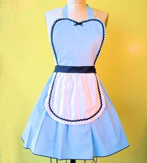 Alice In Wonderland Apron by loverdoversclothing