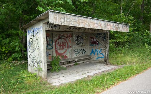 Uppsalas risigaste och kanske äldsta busskur