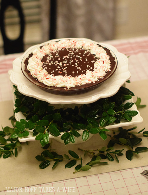Dark Chocolate Peppermint Pie recipe for your holiday gathering