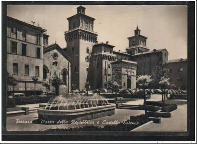 Cartonina Piazza della Repubblica - Postcard Piazza della Repubblica
