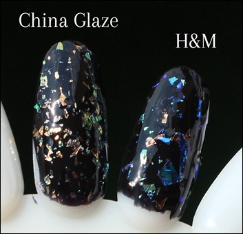 H&M Nagellack Dupe China Glaze Luxe and Lush White Glitter 3