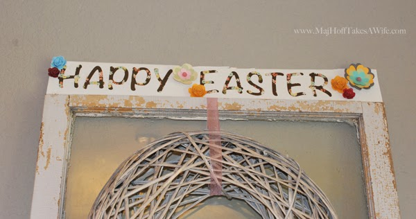 Happy Easter Flower plank art