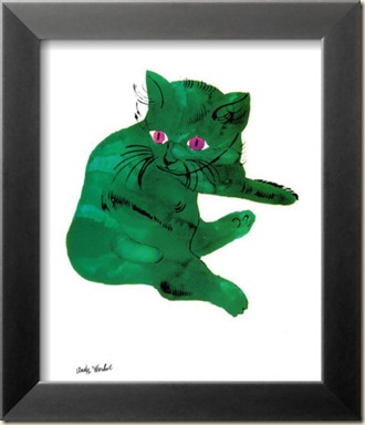 andy-warhol-green-cat-c-1956