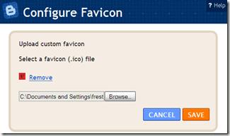 Save, customized favicon