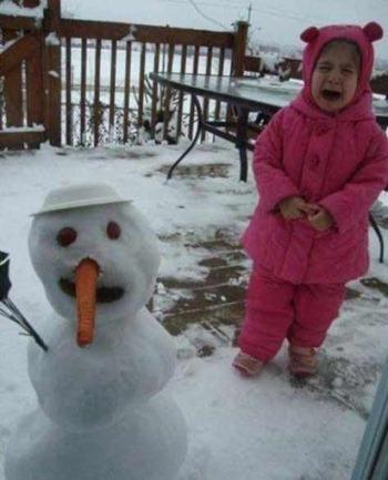 Мальвина и снеговик