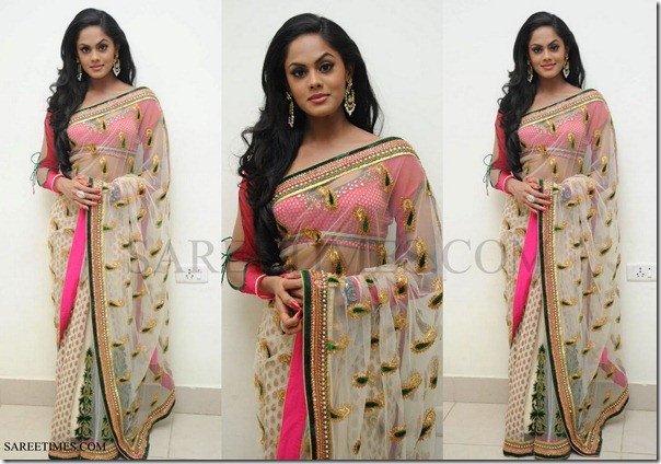 Karthika_Shimmer_Faux_Georgette_Saree