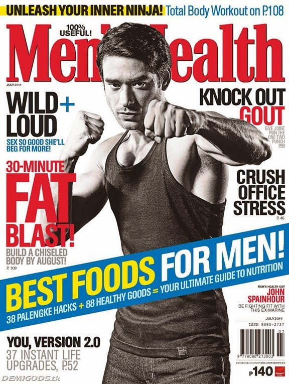 John Spainhour Mens Health Philippines July 2014