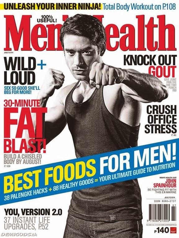 John Spainhour Mens Health Philippines July 2014
