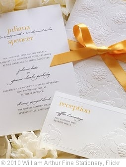 'Vera Wang Embossed Zinnia Wedding Invitation' photo (c) 2010, William Arthur Fine Stationery - license: http://creativecommons.org/licenses/by-nd/2.0/
