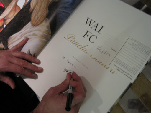 Here's Walton drawing in my book. The illustration makes it so much more personal!