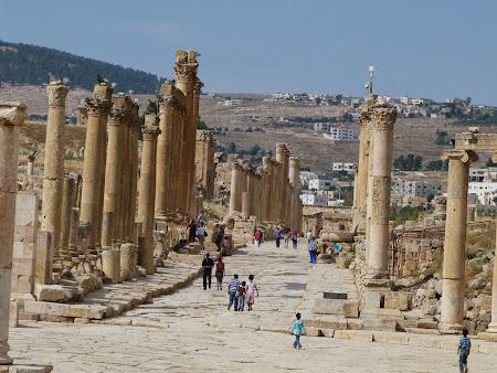 Obiective turistice Jerash - oras roman