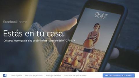Facebook Home Portada