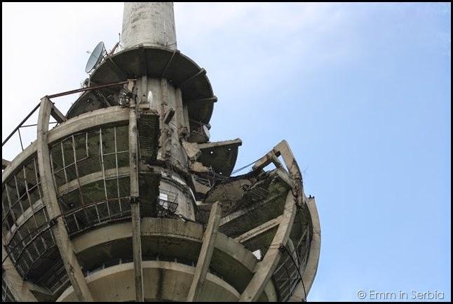 Bombed out communications tower, Fruska Gora